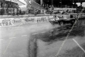 Jaguar D Type. Mike Hawthorn At Speed Le Mans 1955 (1st) (b)